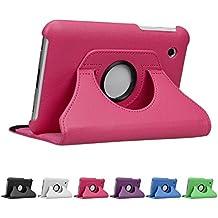 """Deluxe Custodia Samsung Galaxy Tab 2 ( 7"""" ), doupi 360 Gradi Rotable Protezione Case con Smart Funzione Sleep / Wake Up Etui Stare in Piedi Protettiva Cover, Pink"""