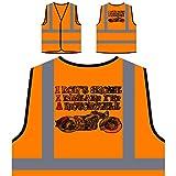 Je Ne Ronfle Pas Je Rêve Que Je Suis Une Moto Veste de protection orange personnalisée à haute visibilité s169vo