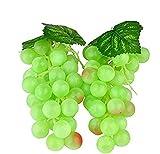 Wady 2pc Deko Kunststoff Weintrauben Wein Trauben Kunstobst Plastikobst künstliches