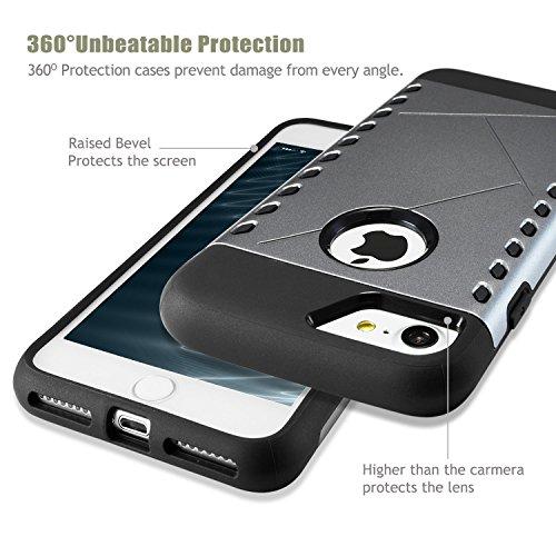 iPhone7 Hülle, Navy Schild Robuster Schutz Maximaler Schutz bei Stürzen, Stoßschutzhülle für das iPhone7 Schutzhüllen 4.7 Zoll Grau Grau