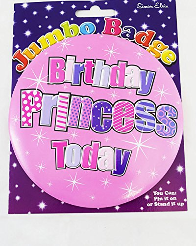"""""""Happy Birthday""""-Plakette für Mädchen, extragroß, Pink/Silber, mit Anstecknadel (Happy Birthday Jumbo-karte)"""