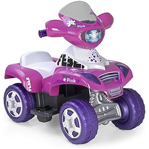 FEBER - Quad Kripton 6V, coche para niños, color rosa (Famosa 800010444)