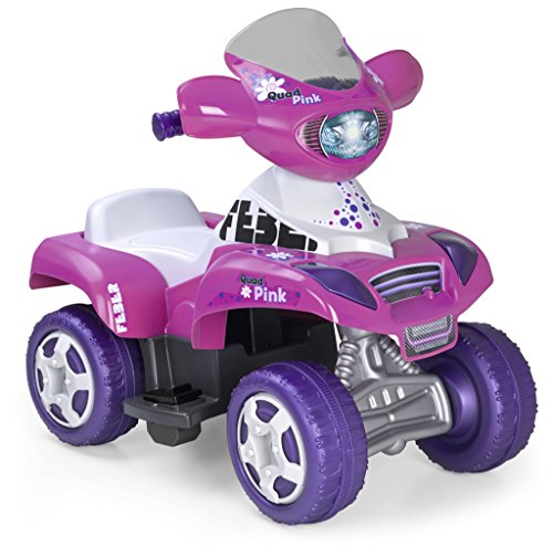 FEBER Quad Kripton 6V, Children's Car, Pink Color (Famous 800010444)