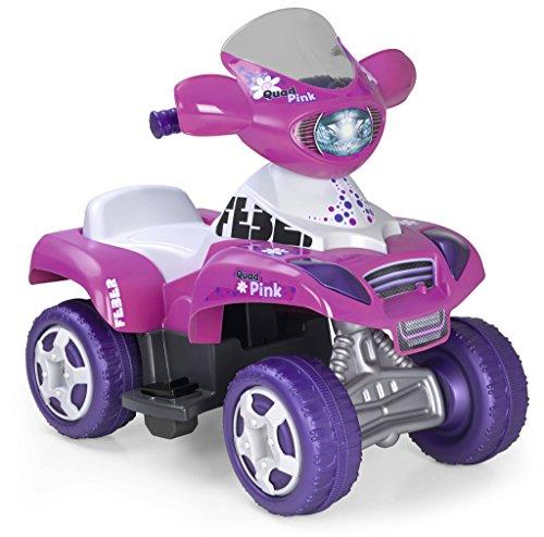FEBER Kripton - Quad électrique pour enfants de 18 mois à 3 ans, 6V, Rose (Famosa 800010444)