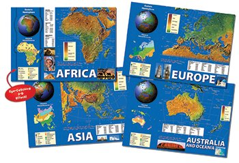 Carson Educational Products Eastern Hemisphere Maps Bb Set