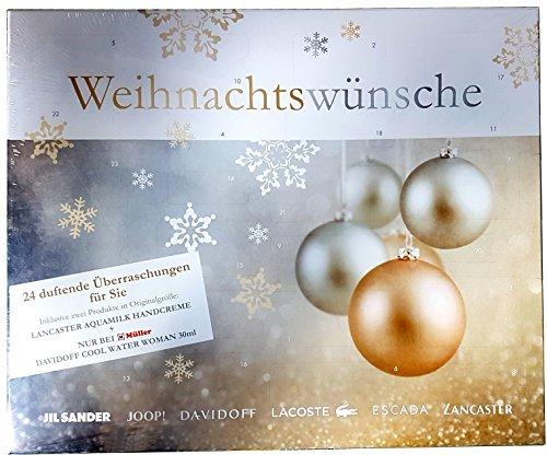 Davidoff Beauty Adventskalender 2017 - Damen - Luxus - Parfum - Pflege - Jil Sander - - Escada - Lacoste - 24 Produkte