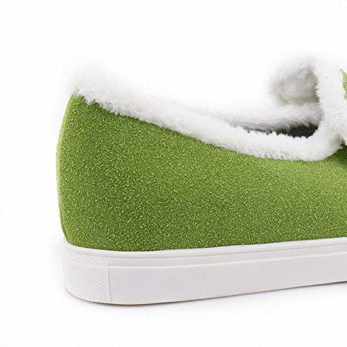 Misssasa Zapatos Elegante Mujer Verde