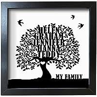 Personalizzato famiglia albero smerigliato box frame