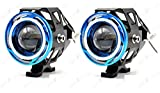 #10: AllExtreme 2 Pieces U11 CREE-LED - Head Hunters LED Projector 3000LMW Headlight Fog Lamp (Dual Ring Red Blue) Fog Light
