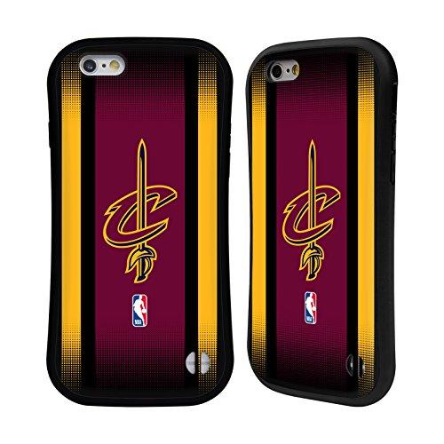 Ufficiale NBA Maglia Cleveland Cavaliers Case Ibrida per Apple iPhone 7 Plus / 8 Plus Gradiente Mezzotono