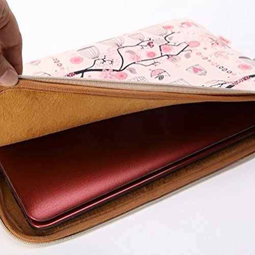 Baymate Donna Borse Laptop Sleeve Carino Per Tablet E Portatile Da 11.6''12''13''14''15 ''Custodia Protettiva 14 Pollice Rosa