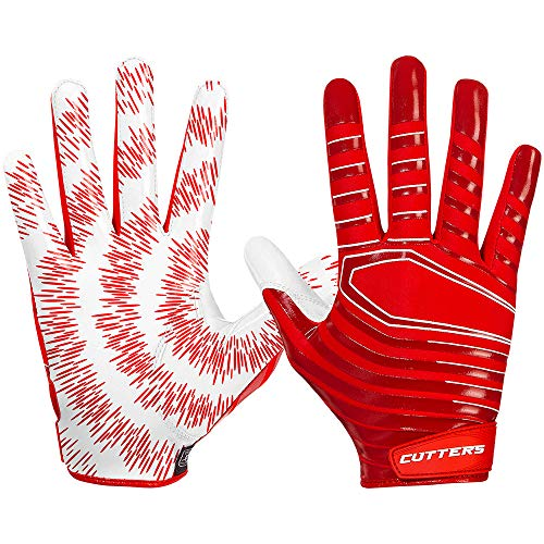 Cutters American Football Receiver Handschuhe Gloves S252 Rev 3.0 Modell 2018 - Rot Gr. L