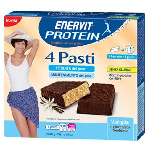 enerZONA bar snack vaniglia e cioccolato fondente 4 pasti 8 bar - 5139JOjQuuL
