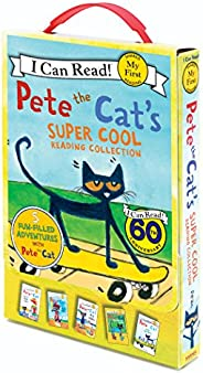 Pete the Cat's Super Cool Reading Collection: Too Cool for School/Play Ball!/Pete at the Beach/Pete's