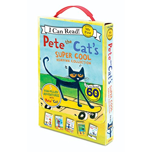 Pete the Cat's Super Cool Reading Collection: Too Cool for School/Play Ball!/Pete at the Beach/Pete's Big Lunch/A Pet for Pete (My First I Can Read) por James Dean