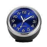 periwinkLuQ Kfz-Armaturenbrett-Uhr mit hoher Genauigkeit, Klassische Tisch-Mini-Quarzuhr fürs Auto, Kleine Runde Uhr (Größe: 40 x 40 x 40 mm) Multi