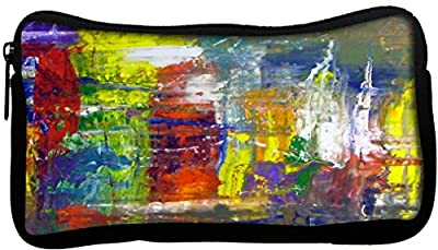 Snoogg Wall Art Abstract Painting Poly Canvas Student Pen Pencil Case Coin Purse Utility Pouch Cosmetic Makeup Bag - cheap UK light store.