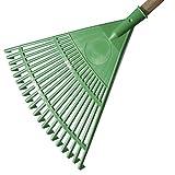 VERDELOOK Rastrello da Giardino in plastica Colore Verde - Dimensioni 45 cm Giardino