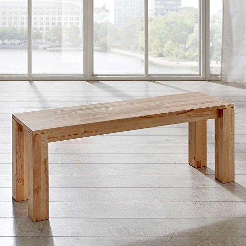 Pharao24 Holzbank Panterra aus Kernbuche Massivholz Breite 160 cm 3 Sitzplätze -