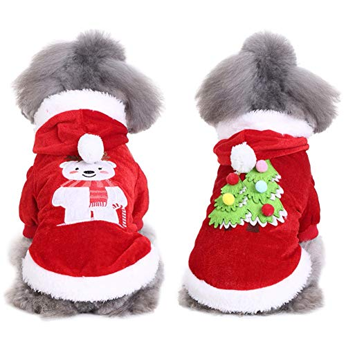 Handfly Pijamas para Perros Mono Ropa para Navidad Perrito Abrigo de Invierno Abrigo para Mascotas Ropa para Perros pequeños, Gatos
