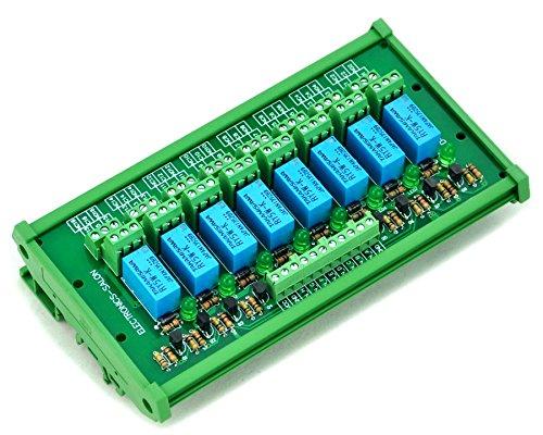 Electronics-Salon Support rail DIN 8 Signal relais DPDT Interface Module, CC 5 V Version.