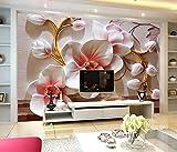 Yosot 3D Schmetterling Orchidee Wand Moderne Blume Benutzerdefinierte Große Wandbild 3D Tapete-250cmx175cm