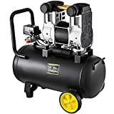 Olibelle Compresseur à Faible Bruit Sans Huile de Compresseur d'Air de 1500W 65dB 250L / Min 8 bar 50L pour la Clinique de Garage (1500W)