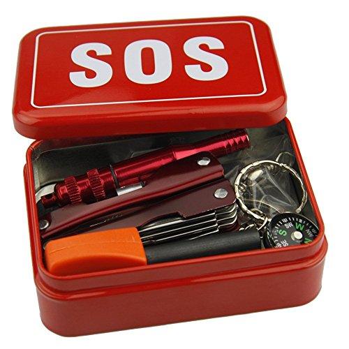 Outdoor Wanderung Selbst Retten Werkzeuge SOS Tools Survival Set Überlebens Set Notfall Tool Box Sos Set Werkzeuge Für Reisen Camping Wandern SOS Instrument