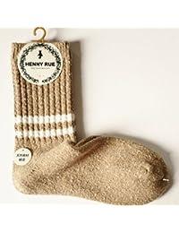 GRHY Montón de calcetines de algodón para mujeres Tube Otoño e Invierno College Wind engrosada Bar dos calcetines de lana, un tamaño,color beige claro