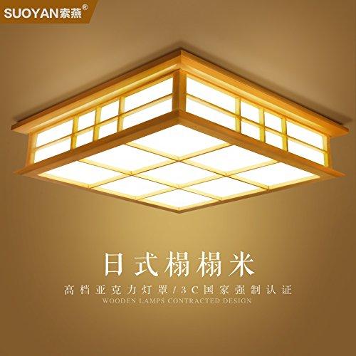 LYXG Giapponese di luce a soffitto in legno luci lampada