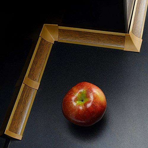 3m WINKELLEISTEN 23mm Farbe: Eiche rustikal + 15 dubel ABSCHLUSSLEISTE Winkelleisten Küche...