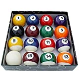 Bearony Set di palle da biliardo, 16pcs / set Set di bilie per biliardo completo di biliardo da tavolo per bambini