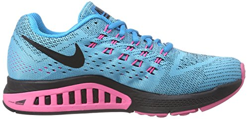 Nike Air Zoom Structure 18, Chaussures de Running femme Turquoise (Blue Lagoon/Black/Pink Pow/Sunset Glow)