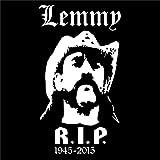 Lemmy RIP Aufkleber Sticker Autoaufkleber 185x100mm Folie Fan Art (weiss)