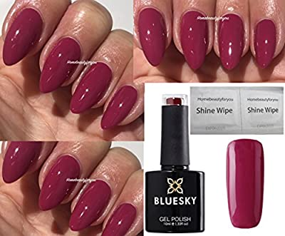 Bluesky Diva Dash Deep Raspberry Limited Special Edition Nail Gel Polish UV LED Soak Off 10ml PLUS 2 Homebeautyforyou Shine Wipes