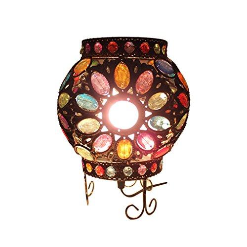 DIY Tischlampe E14 Ball Retro kreative Stimmung Lichter, Kinderzimmer Lampe Nachtlicht, Farbe Plexiglas Intarsien Kunst Beleuchtung -