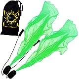 Pro ANGEL WINGS Poi Set (UV Grun) Flames N Games Spiral Poi. Swinging Poi und Spinning Pois! Pois für Anfänger und Profis.