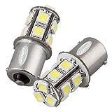 Ecloud Shop 3 pieces 2 x 1156 BA15S 13 LED 5050 SMD Feux Eclairage Bulb Arrière 12V Blanc Voiture