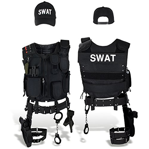 Black Snake SWAT FBI Police Security Kostüm inkl. -