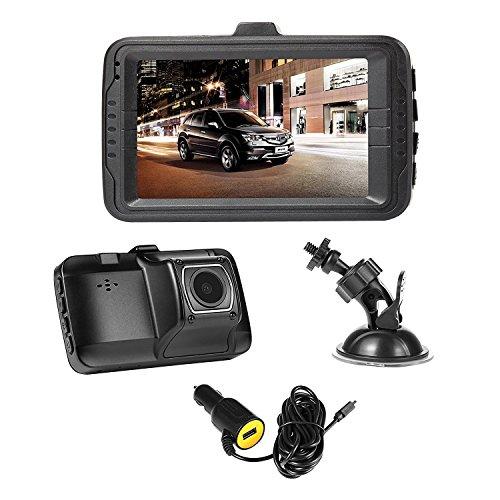 NEXGADGET Dashcam Cámara de Coche Videocámara DVR con 1080P HD Caja Negra Cargador de Coche con Puerto USB Registrador de Datos de Conducción Sensor G WDR Grabación Sobre-escribe