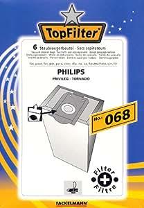 Top filter lot de 6 sacs d'aspirateur n ° 068
