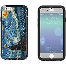 """905–Vincent Van Gogh Noche estrellada diseño iphone 66S 4.7""""Full Body Funda con build en protector de pantalla de goma Defender a prueba de golpes Heavy Duty constructores funda protectora"""