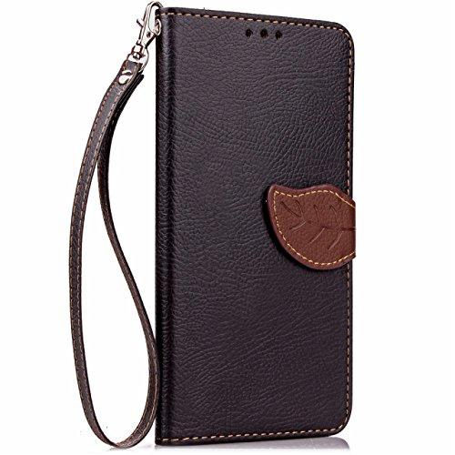 iPhone Case Cover Housse en cuir pour iPhone 7 ( Color : Brown , Size : IPhone 7 ) Black