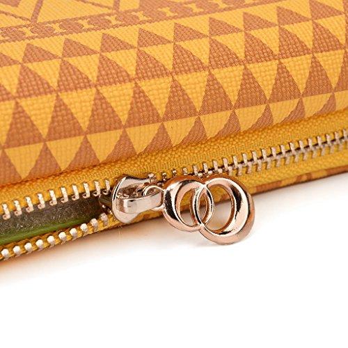 Kroo Pochette/Tribal Urban Style Étui pour téléphone portable compatible avec Nokia 208 Brun jaune