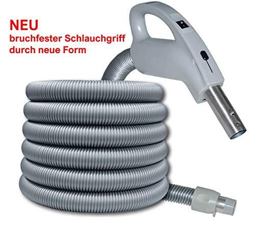 Genialvac Komfort Schlauch Ergonomic für Zentralstaubsauger, für die meisten Saugdosen verwendbar (Länge 12m)