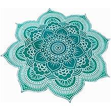 Pixnor Mandala ronda Lotus tiro tapiz manta alfombra Hippy bohemio gitano mantel playa toalla redonda verde Mat de Yoga