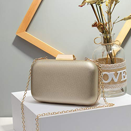Ldyia Bag Dinner Bag Damen Dinner Clutch Bag Schulter Diagonale Fashion Chain Bag, Gold