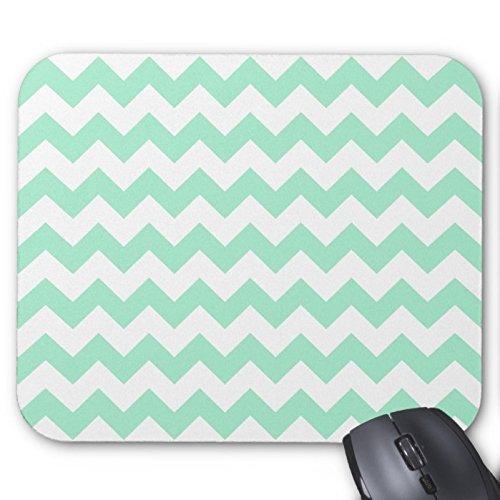 mint-green-zig-zags-zigzag-chevron-pattern-mouse-pad
