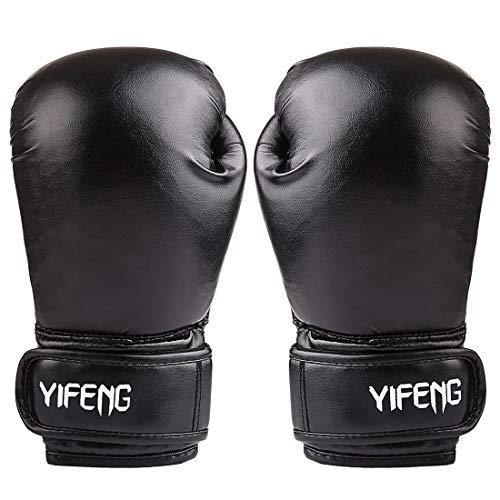 Poxl Kinder Boxhandschuhe mit Klettschluss 6Oz Sparring Boxhandschuhe Muay Thai Boxsack Training Sparring für 6-11 Jahre alt
