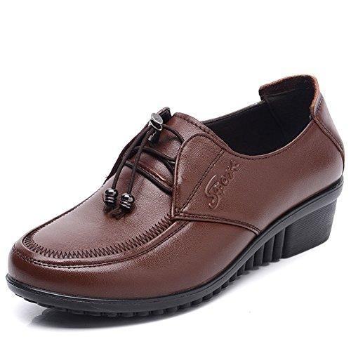 Chaussures de femmes d'âge mûr/Avec les chaussures de maman/Chaussures de fond mou pour les personnes âgées/Chaussures entre deux âges B